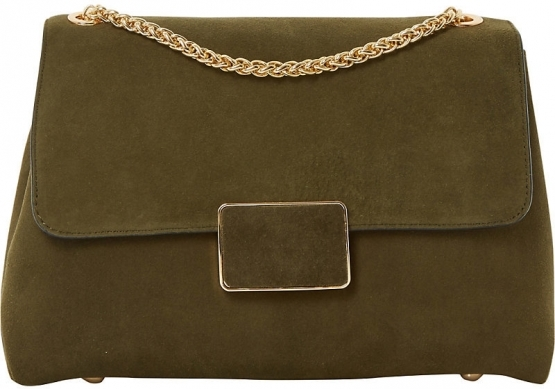 Choose from a jungle of earthy tones SUEDE SHOULDER BAG £61.75, DUNE AT DE GRUCHY