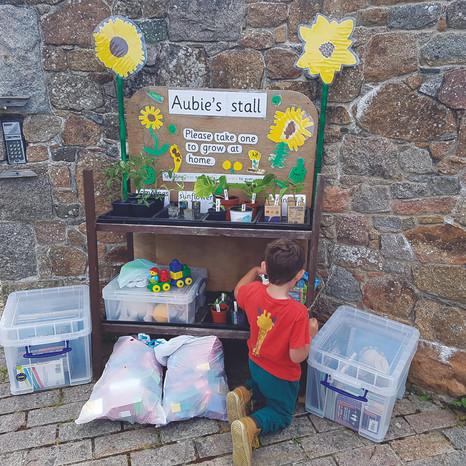 Aubie's stall: Making people smile
