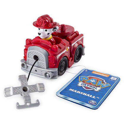 Auto Vehículo Paw Patrol Rescue Racers Incluye Gancho Marshall