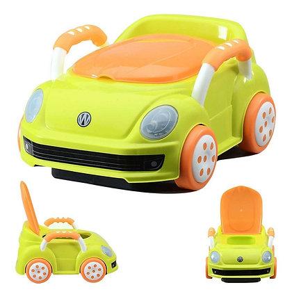 Vasenilla Mica Potty Diseño Carro Bebe Verde