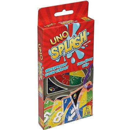 Cartas Uno Splash Waterproof Original Mattel Incluye Llavero