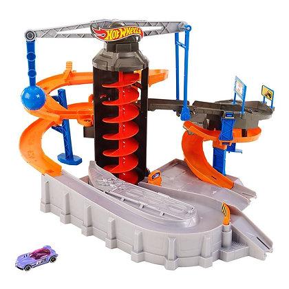 Pista Hotwheels Caos En Zona De Construcción Mattel