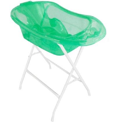 Bañera Traslucida Con Soporte Y Base Verde