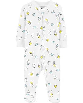 Pijama Carters Blanca Sol