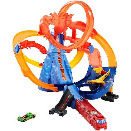Pista Escape Del Volcán Hotwheels Mattel