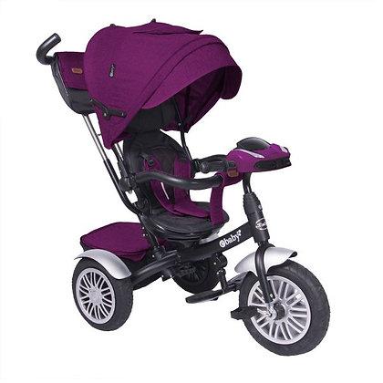 Triciclo Paseador Para Bebe Niño Zoe Ebaby Nuevo Modelo Morado