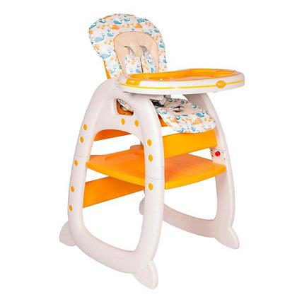 Mesa Silla Comedor Para Bebé 2 En 1 Tipo Escritorio Ebaby Amarillo