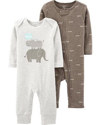 Pijama 2 Pcs Elefante Niño Carters