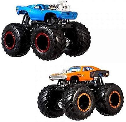 Hot Wheels Monster Trucks Rodger Dodger Vs Dodge Charger