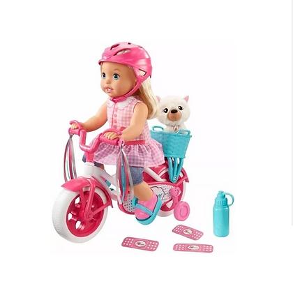 Muñeca Little Mommy Paseo En Bicicleta