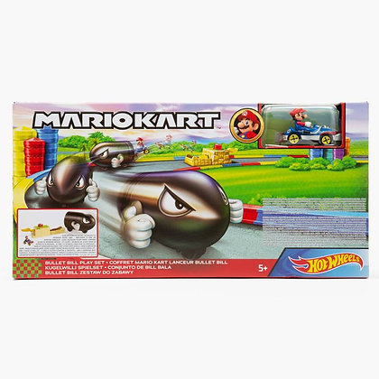 Pista De Autos Hot Wheels Mariokart Bill Bala Con Lanzador
