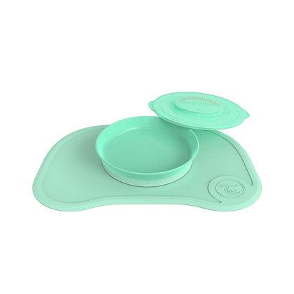 Kit Mantel + Plato En Silicona Twistshake Verde