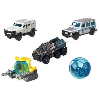 Autos Matchbox Jurassic World X5 Unidades Carros Colección