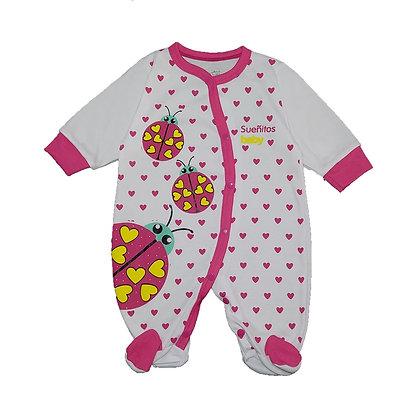 Pijama Sesgada Niña Sueñitos Fucsia