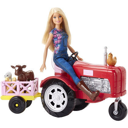 Barbie En La Granja Con Tractor Mattel