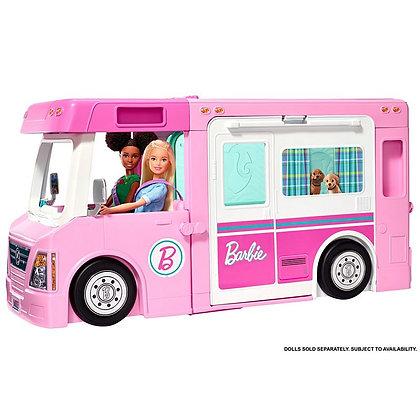 Camper Barbie 3 En 1 Nuevo Modelo Amueblada Original Mattel