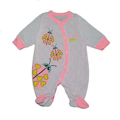 Pijama Sesgada Niña Sueñitos Rosado Fluorescente