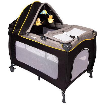 Cuna Corral Para Bebe Con Mecedora Y Toldillo Alto Ebaby Amarillo