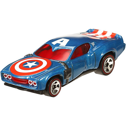 Autos Hotwheels Capitán América Marvel Mattel