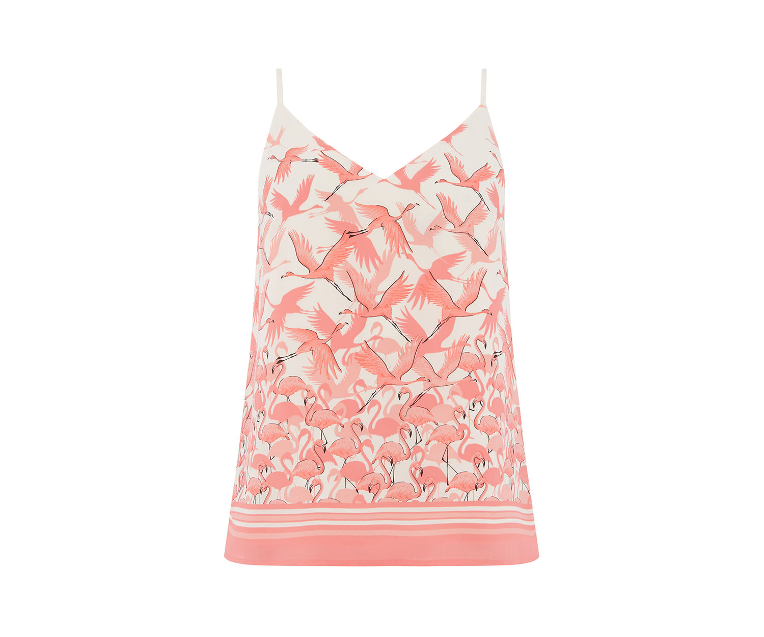 For all your printed cami needs FLAMINGO CAMI £23.50, OASIS AT DE GRUCHY