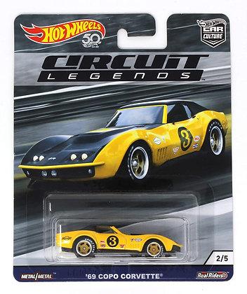 Auto Hot Wheels Circuit Legends 69 Copo Corvette