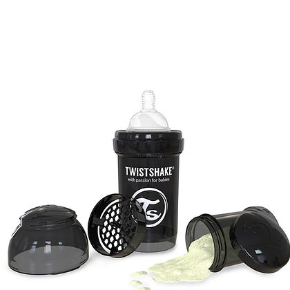Tetero Anticolico Twistshake 6oz Negro