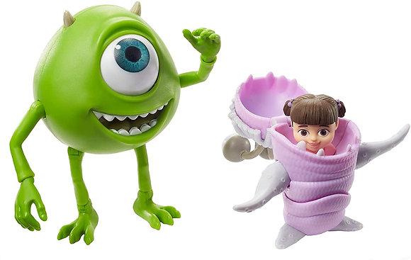 Figuras Articuladas Pixar Monsters Inc Mike Wazowski Y Boo