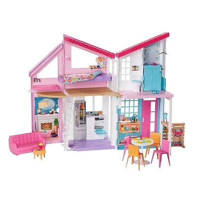 Barbie Casa Malibu Muñeca Mansión 25 Accesorios 6 Cuartos