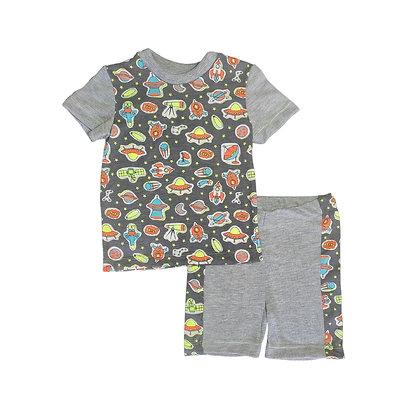 Pijamas Excelente Calidad FK Short Espacio Gris