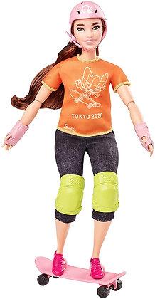 Barbie Juegos Olimpicos Tokyo 2020muñeca Skateboarding Skate
