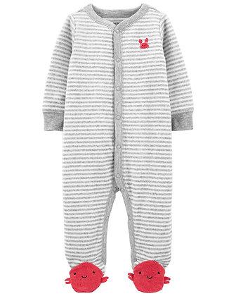 Pijama Carters Cangrejo Gris