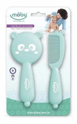 Cepillo Y Peine Para Bebe Cerdas Suaves Rosado 0m+ Azul