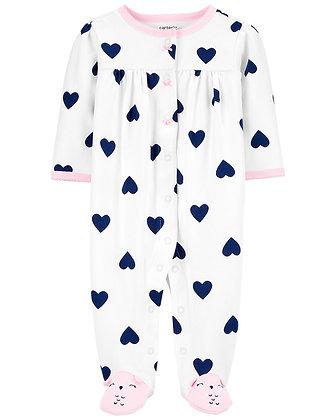 Pijama Carters Corazones Azules