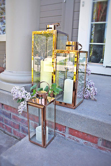 Rose Gold Square Lanterns