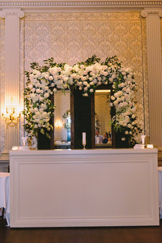Hedge Bar Back with Added Mirrors and Floral