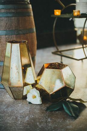 Gold Mercury Hexagon Lanterns