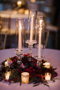 Clear Crystal Candlesticks with Tapers
