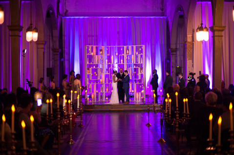 Candle Wall Ceremony Backdrop
