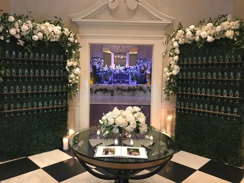Champagne Hedge Walls