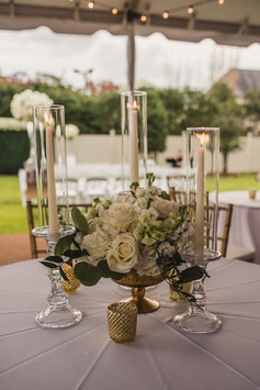 Clear Candlesticks with Taper Candles
