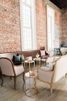 French Country Sofa and Blush Sophia Armchairs
