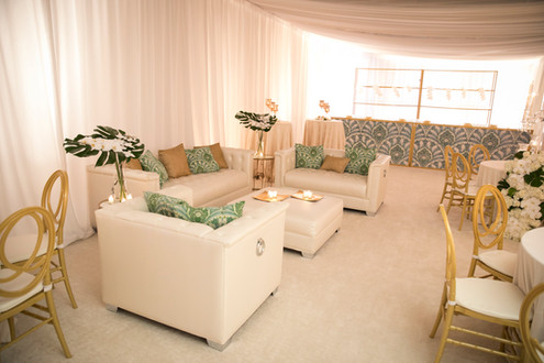 White Leather Lounge