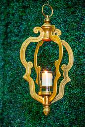 Open Gold Scroll Lantern