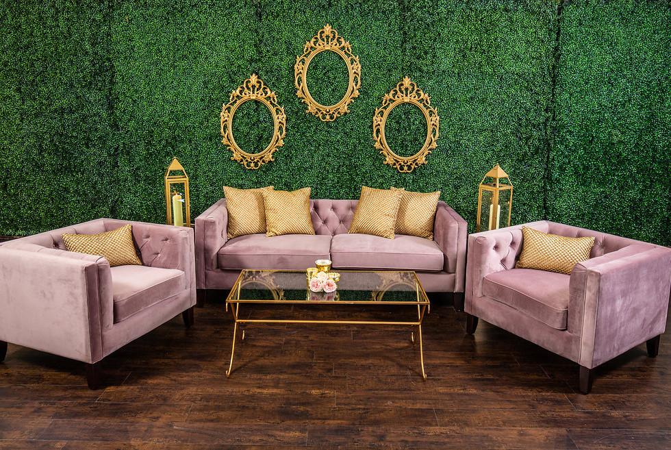 Blush Velvet Lounge