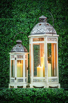 White Wooden Lanterns