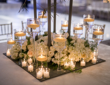 Classic Stems and Cylinders with Floating Candles
