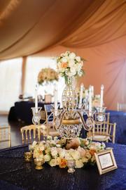 Table Top Crystal-Beaded Chandeliers
