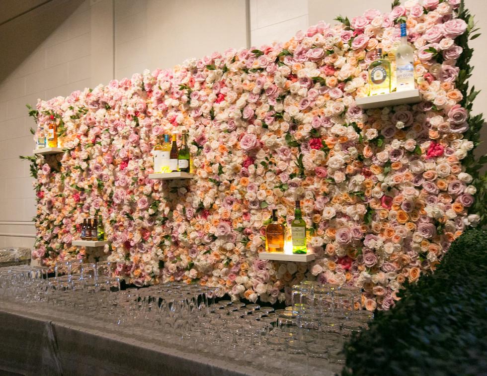 Floral Back Bar