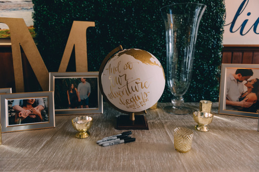 Hedge Wall Guest Book Table Backdrop