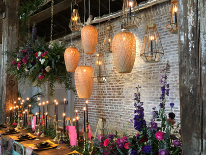 Bamboo Chandeliers and Geometric Terrariums